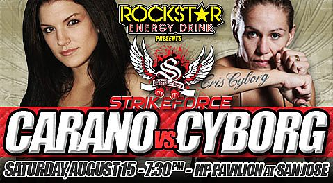 Gina Carano vs. Cris Santos - 'Conviction' vs. 'Cyborg' | The Fight Is On! - Saturday, August 15th, 2009