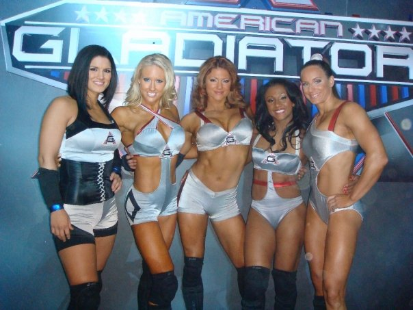 Female american gladiators nude split that