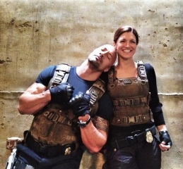 "@ginacarano: ""@FastFurious @TheRock on the set of Fast 6 #London.. Good times."""