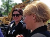 groundbreaking ceremony: Gina Carano with a NY county executive Joanie Mahoney (credit: @ktampone@syracuse.com)